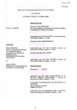 Jugement Annulation AG du 05mars09