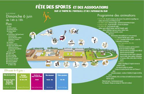 F te des sports et des associations dimanche 6 juin sur for Piscine ile de puteaux
