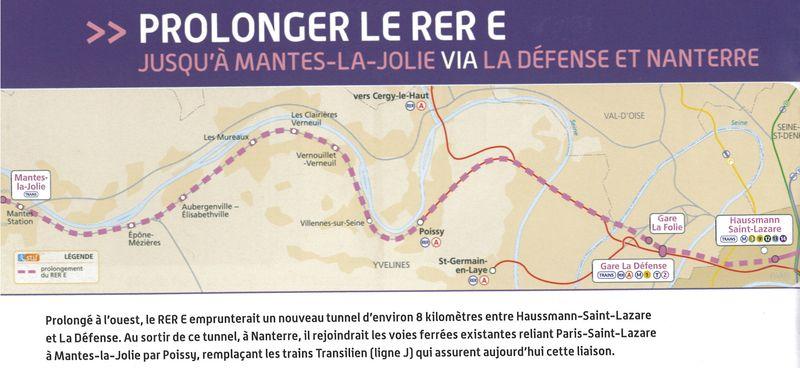 RER E - Carte