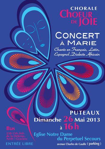 Concert Choeur de Joie du 26 mai 2013