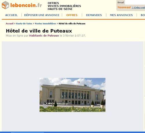 Une Mairie à vendre